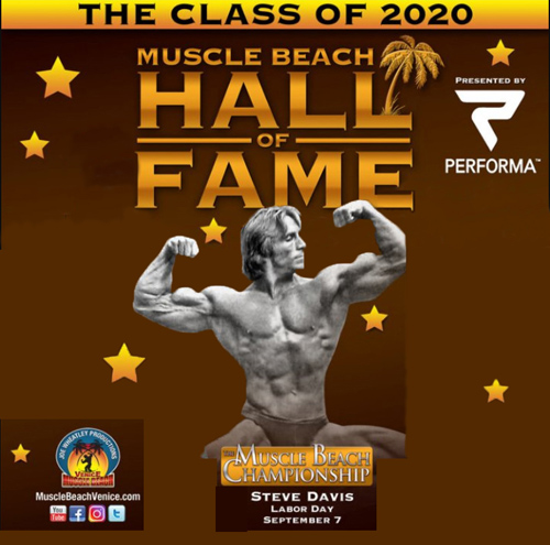 Muscle Beach Hall of Fame 2020 Inductee, Steve Davis